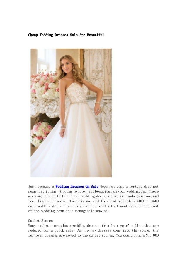 Cheap Wedding Dresses Sale Are Beautiful