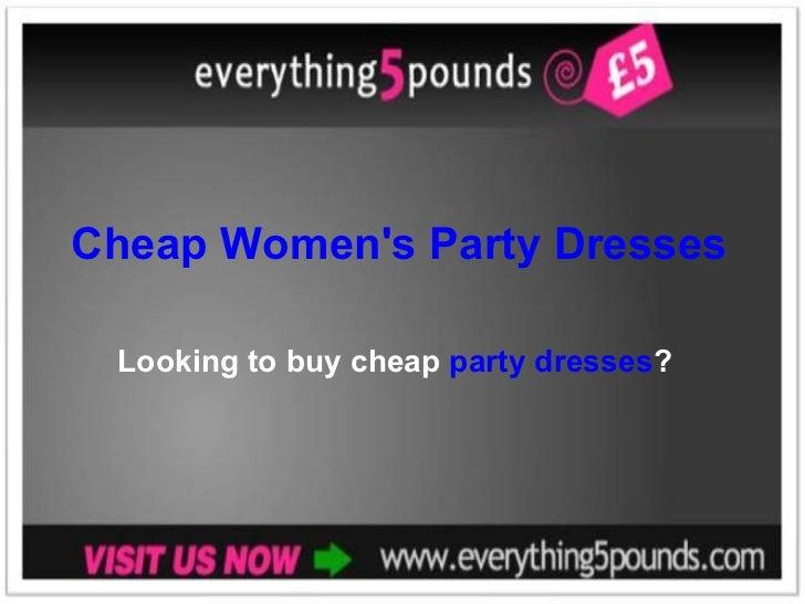 Cheap Women's Party Dresses