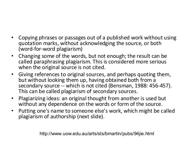 Plagiarism in research papers