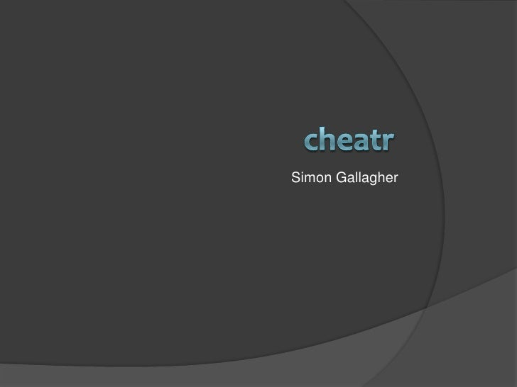 """""""cheatr"""" Pitch by Simon Gallagher at #TFTLondon"""