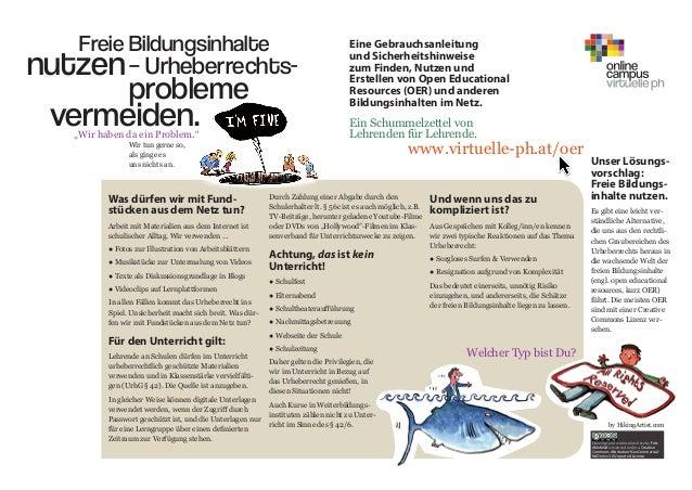 Freie Bildungsinhalte vermeiden. – Urheberrechts- probleme nutzen Eine Gebrauchsanleitung und Sicherheitshinweise zum Find...