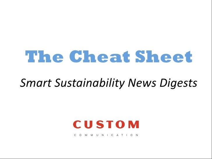 The Cheat Sheet SmartSustainabilityNewsDigests