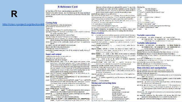 Science Data Sheet Cheat Sheets For Data