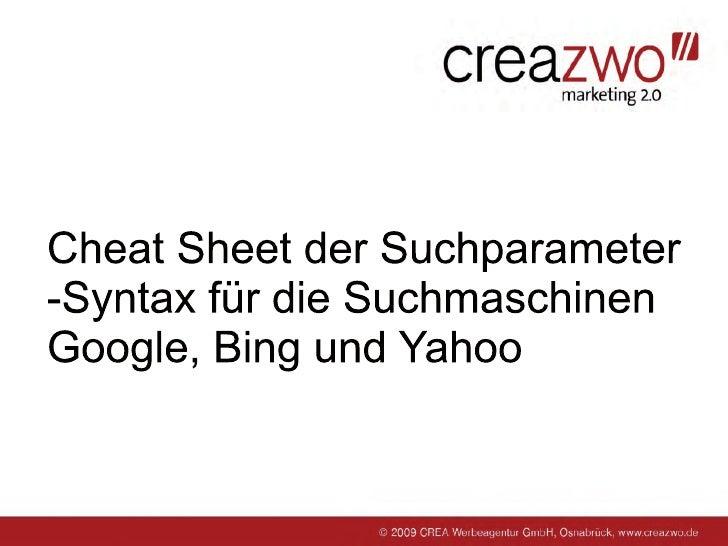 Effektiver Suchen bei Google, Bing & Yahoo
