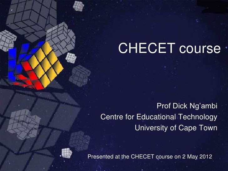 CHEC Emerging Technologies course