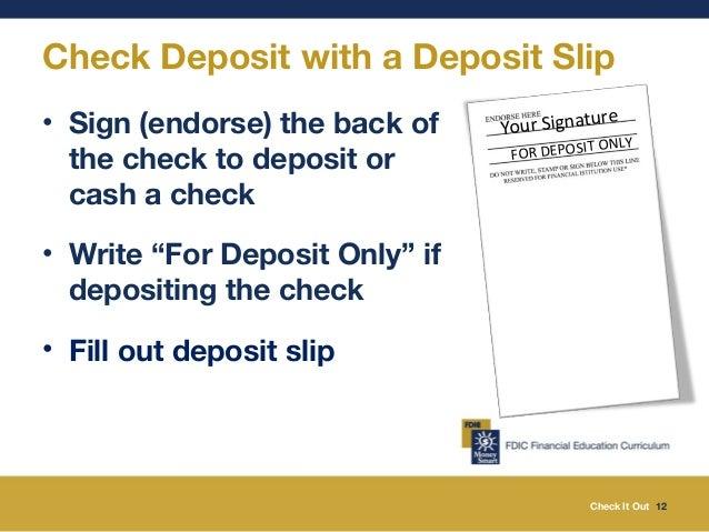 Image result for deposit only slip