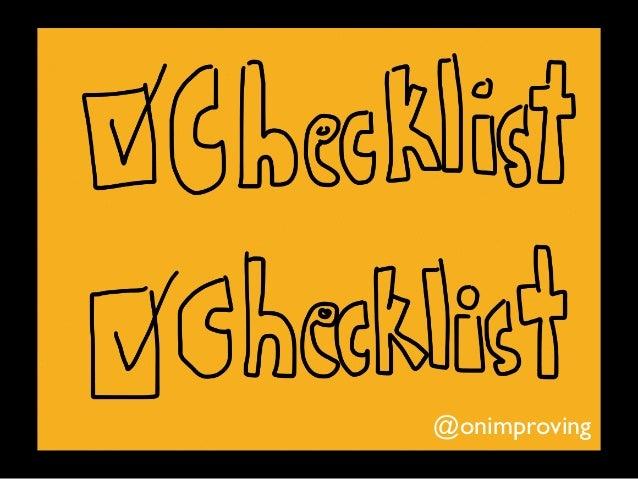 Checklist Checklist