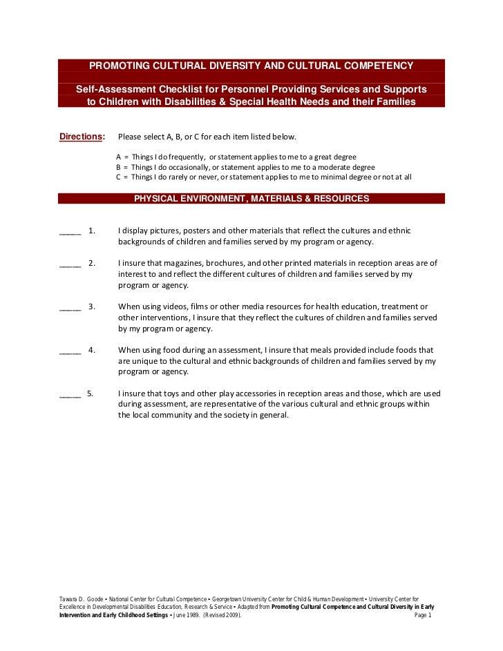 August QIA Resource: Checklist