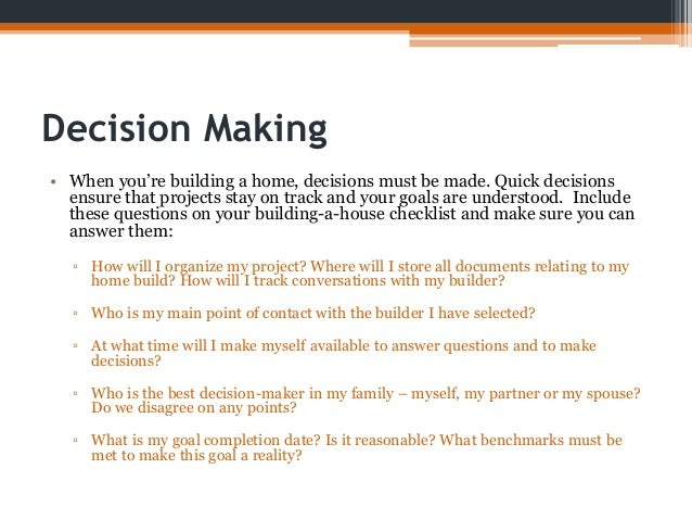 home decision The second decision the #1 bestseller in 51 different business categories the second decision is the choice you make when you fully realize the responsibility that rests on your shoulders.