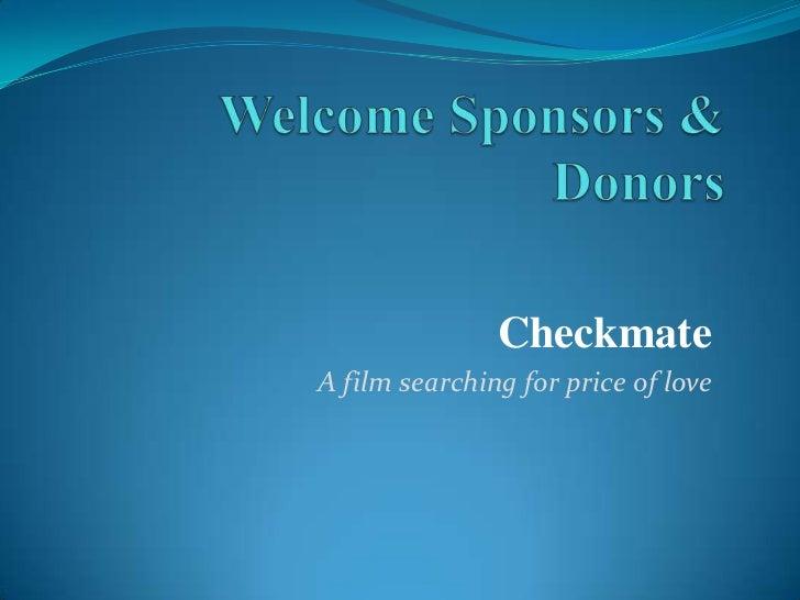 Checkmate Sponsorship Plan