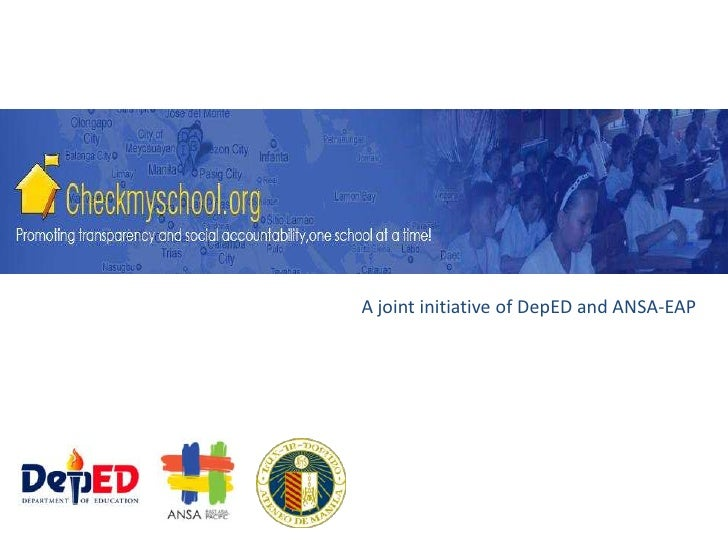 A joint initiative of DepED and ANSA-EAP<br />