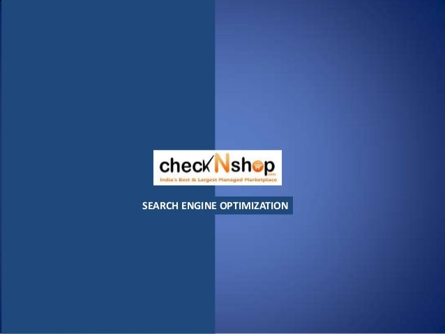 SEO proposal for ecommerce websiteChecknshop