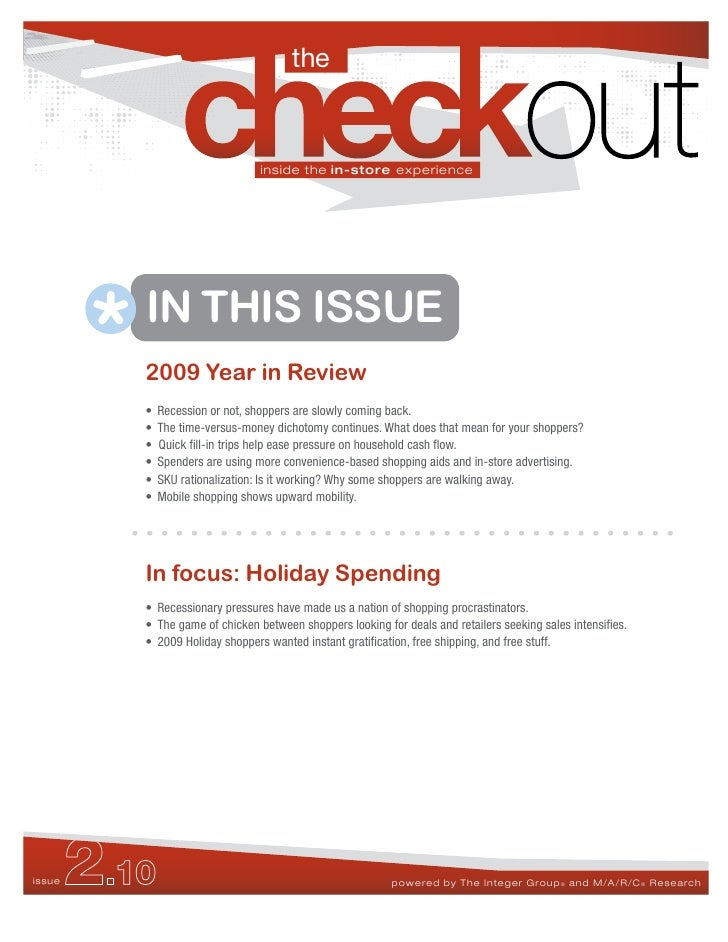 The Checkout 2.10 -  2009 Holiday Spending