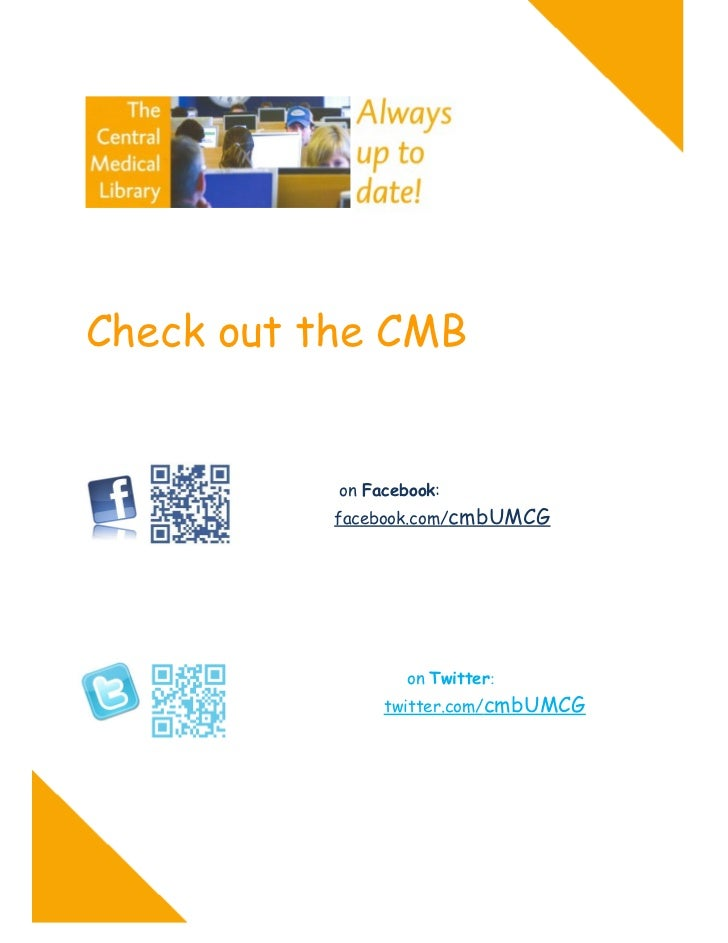 """Poster """"Check out the CMB on Facebook and Twitter"""""""