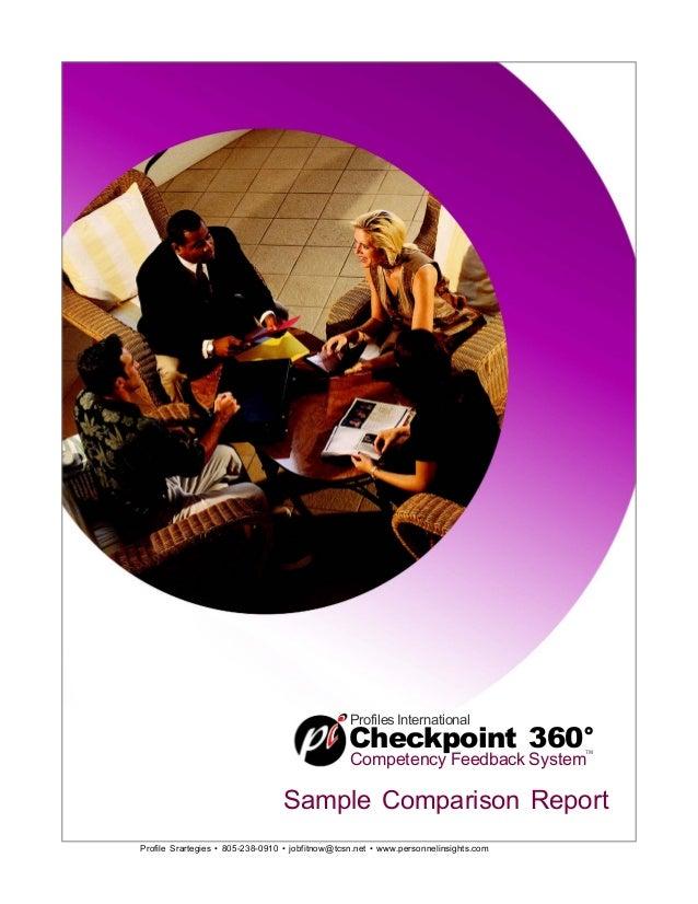 Profile Srartegies • 805-238-0910 • jobfitnow@tcsn.net • www.personnelinsights.com Profiles International Checkpoint 360° ...
