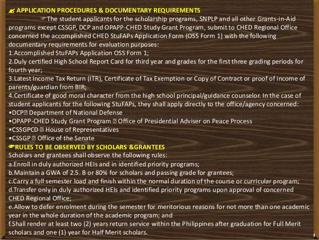 Ched dissertation assistance requirements