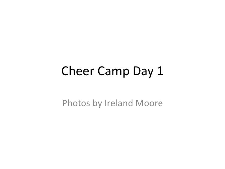 Cheer camp day 1