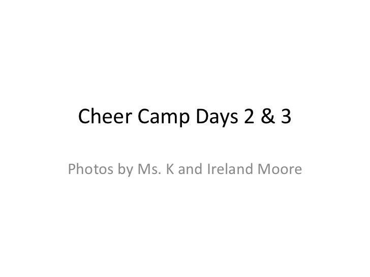Cheer camp days 2 & 3