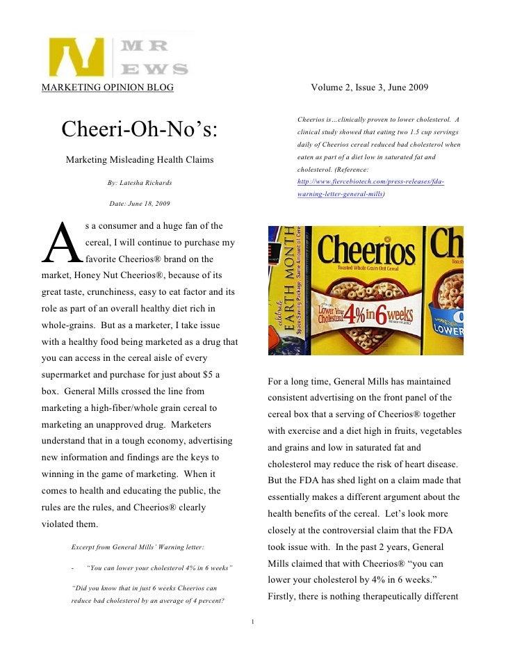 Cheerios Opinion Blog   Nmr News June 2009