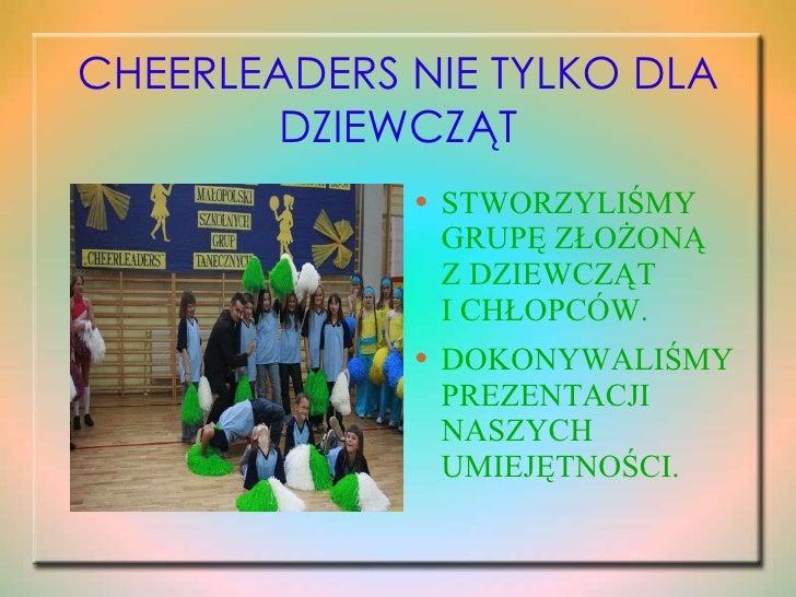 Cheerleaders Nie Tylko Dla DziewcząT