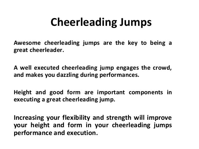 how to get good jumps for cheer