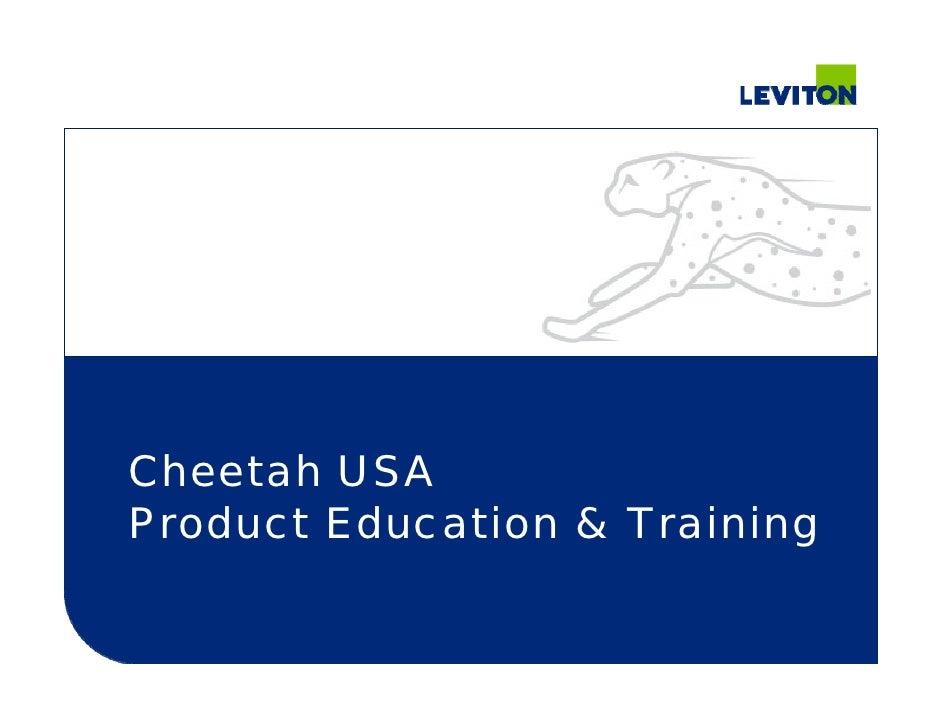 Cheetah USA Product Education & Training