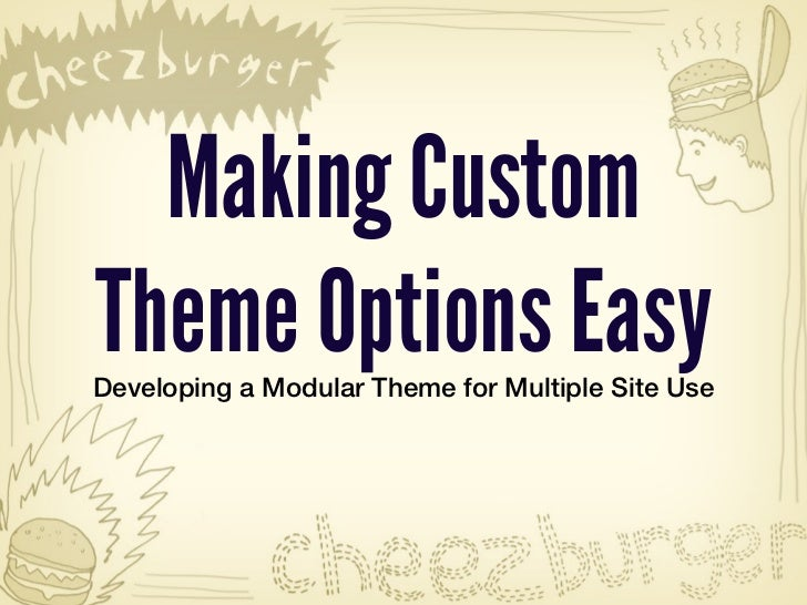 Cool as a LOLCat: Making Custome Theme Options Easy