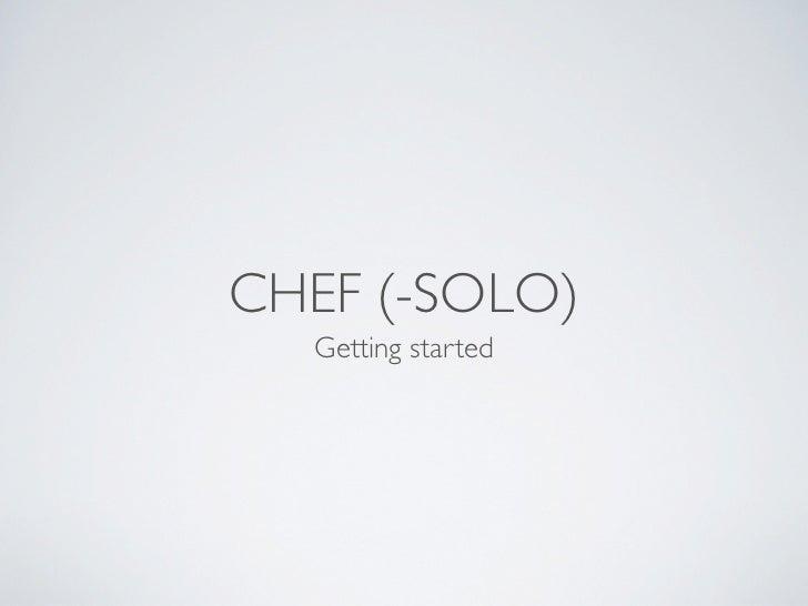 Chef, getting started - Wiktor Schmidt (PRUG 3.0)