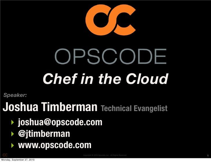 Chef in the cloud [dbccg]