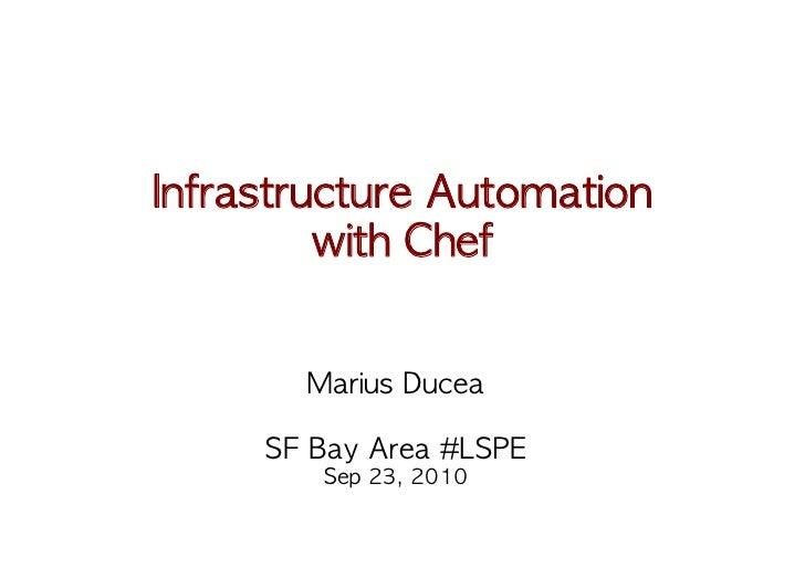 Chef Intro @ SF Bay Area LSPE meetup