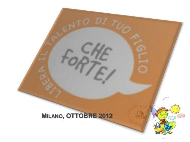MILANO, OTTOBRE 2012