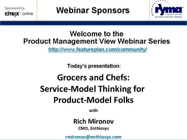 Chefs and Grocers (SaaS Models)