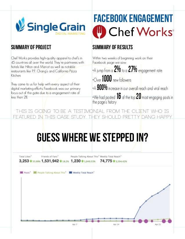 Chef Works Case Study   Facebook Success