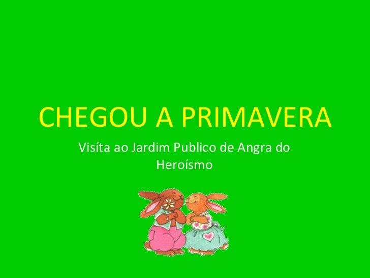 CHEGOU A PRIMAVERA Visíta ao Jardim Publico de Angra do Heroísmo