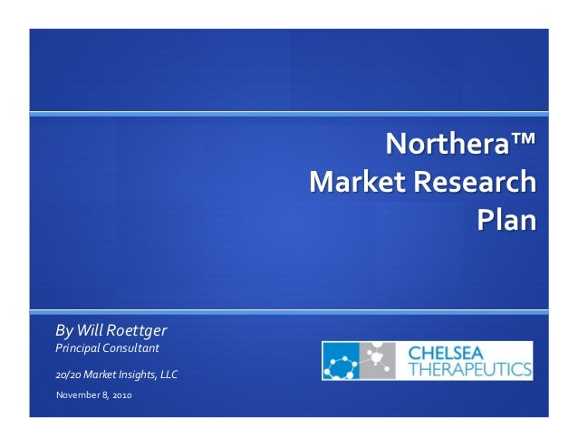 Chelsea Therapeutics -  Northera NOH 2011 Market Research Plan