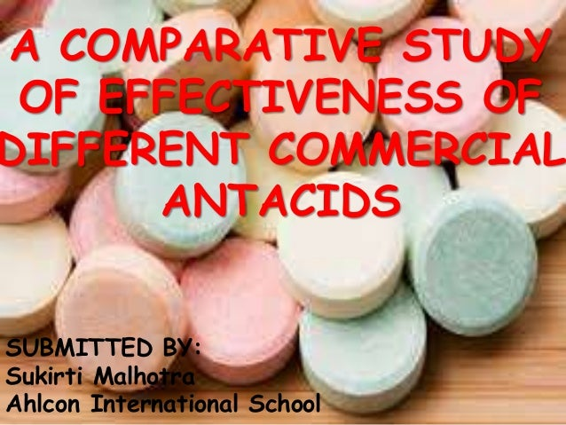 Comparative study of four antacids. - PubMed Central (PMC)