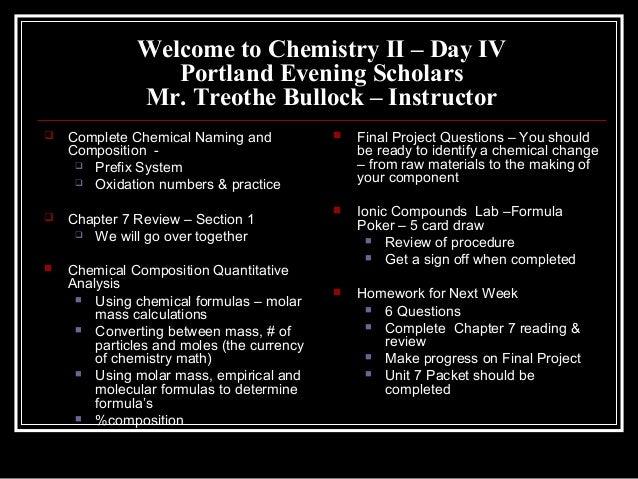 Chem II Day IV