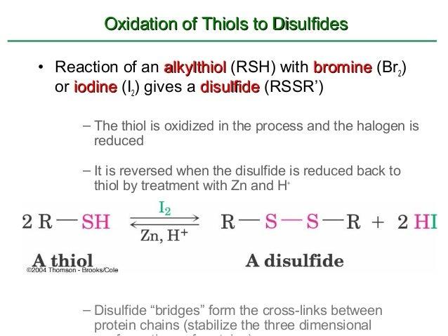 Thiol Oxidation Mechanism Oxidation of Thiols to