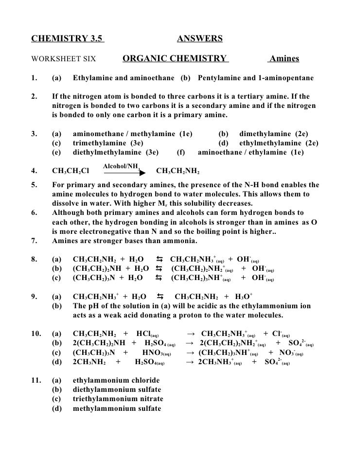 Chem 3.5 answers #6
