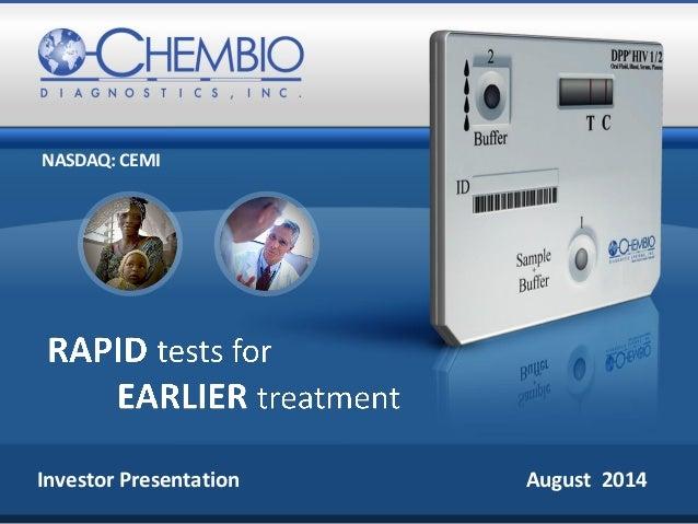 Chembio - Investor Presentation Aug 2014
