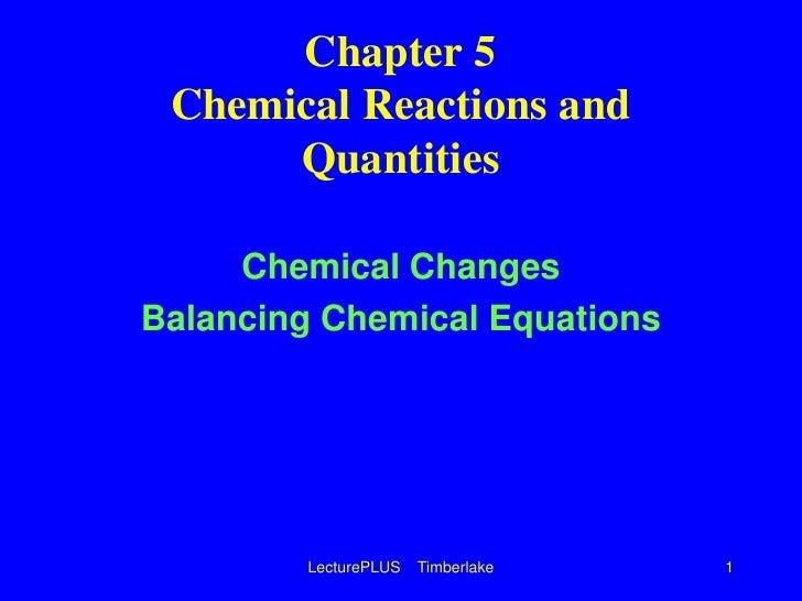 Chem equations