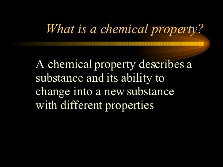 Flammability Chemical Property Example