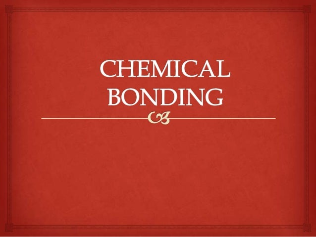 Chemical bonding sk0023