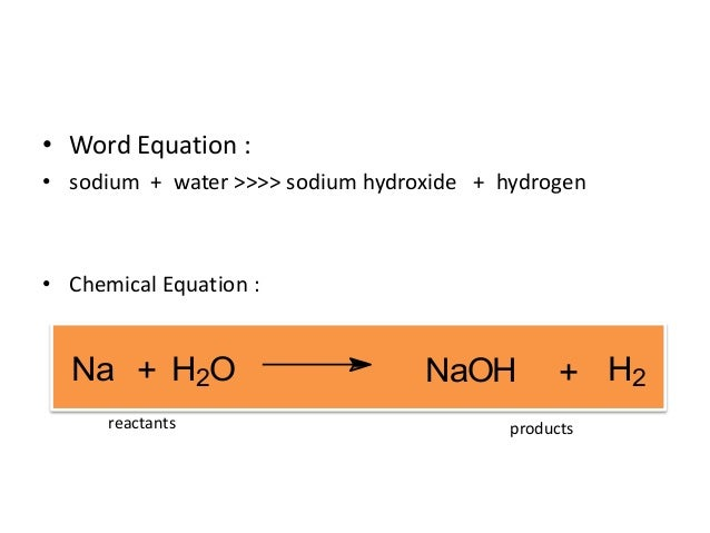 H2o Chemical Equation Chemical equation na h2oH2o Equation