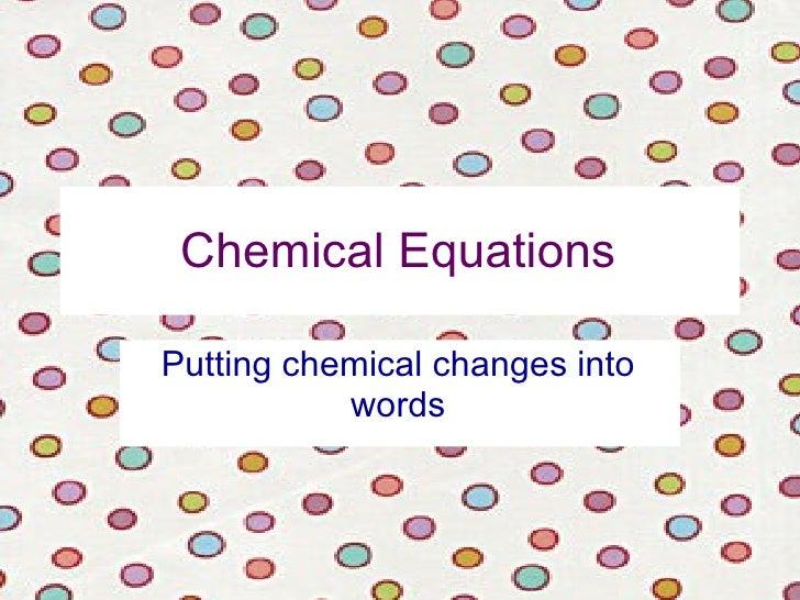 Chemical equations 11