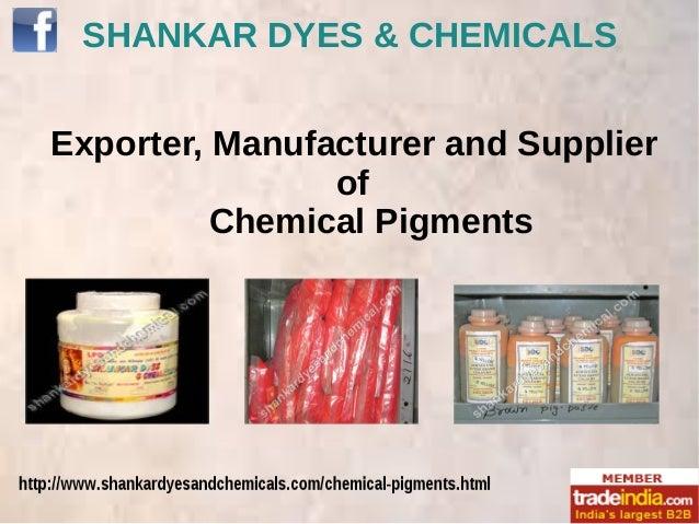 Chemical Pigments Exporter,Manufacturer,Delhi