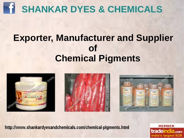 SHANKAR DYES & CHEMICALS Exporter, Manufacturer and Supplier of Chemical Pigments