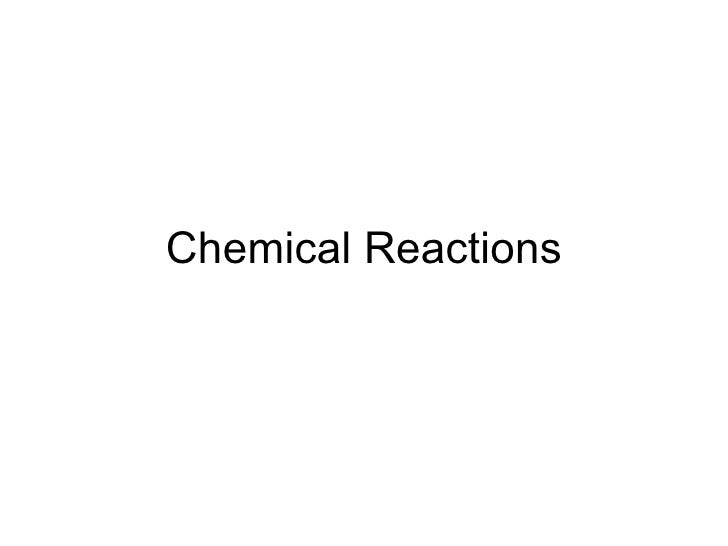 Attacking the TEKS: Chemical Reactions