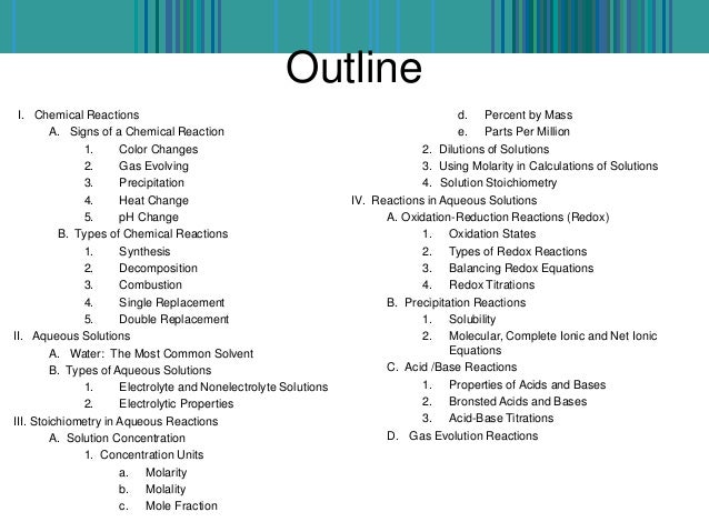 Types Chemical Reactions Essay Resume Example Resume For