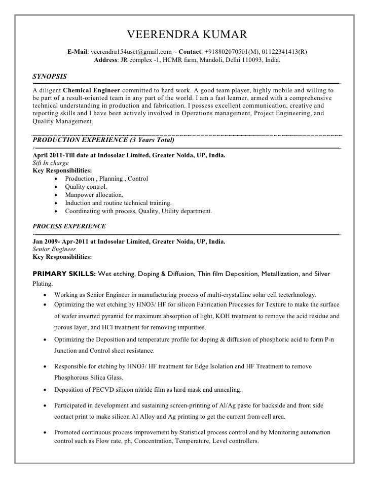 Awesome Junior Chemical Engineering Resume Photos - Office Resume ...